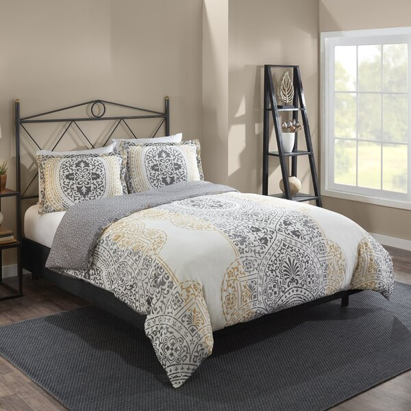 Dowson 100% Cotton 3 Piece Reversible Comforter Set by Bungalow Rose